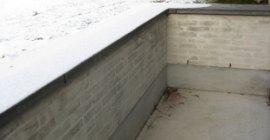 Støbt og muret  nedgang til kælder